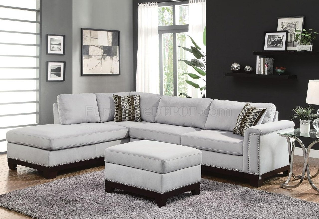 Fabric Sectionals Microfiber Sectional Sofas Microsuede Within Fabric Sectional Sofa (#4 of 12)