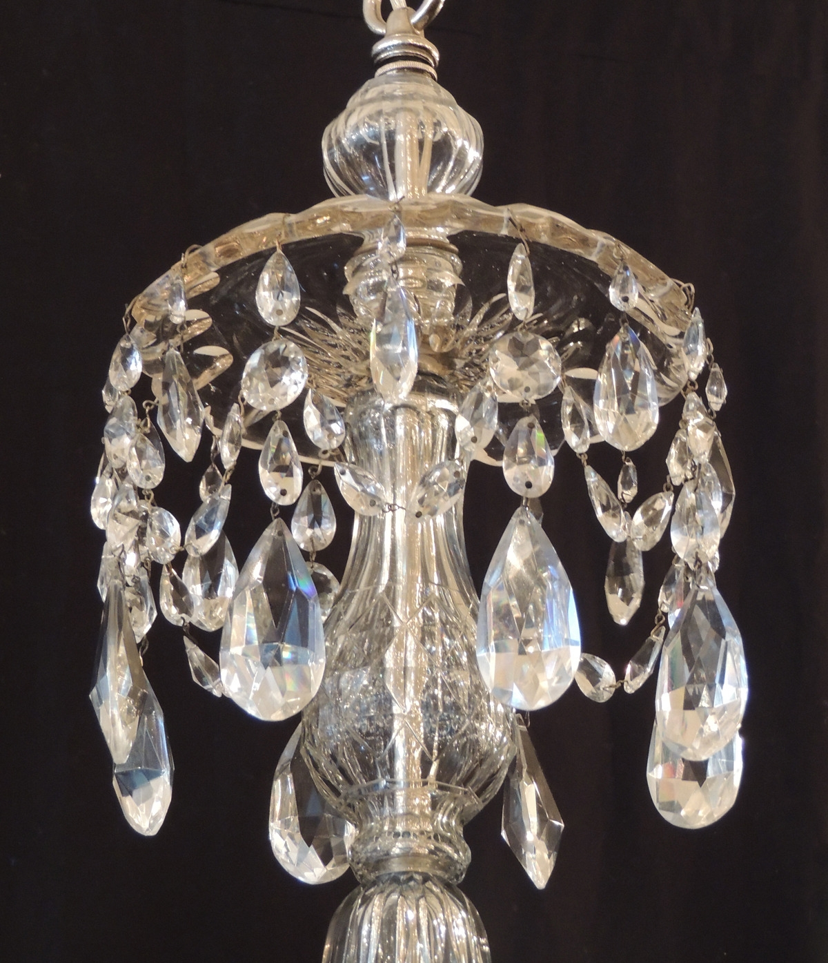 Fabulous Large Glass Globe Chandelier Clear Glass Globe Chandelier With Lead Crystal Chandeliers (#9 of 12)