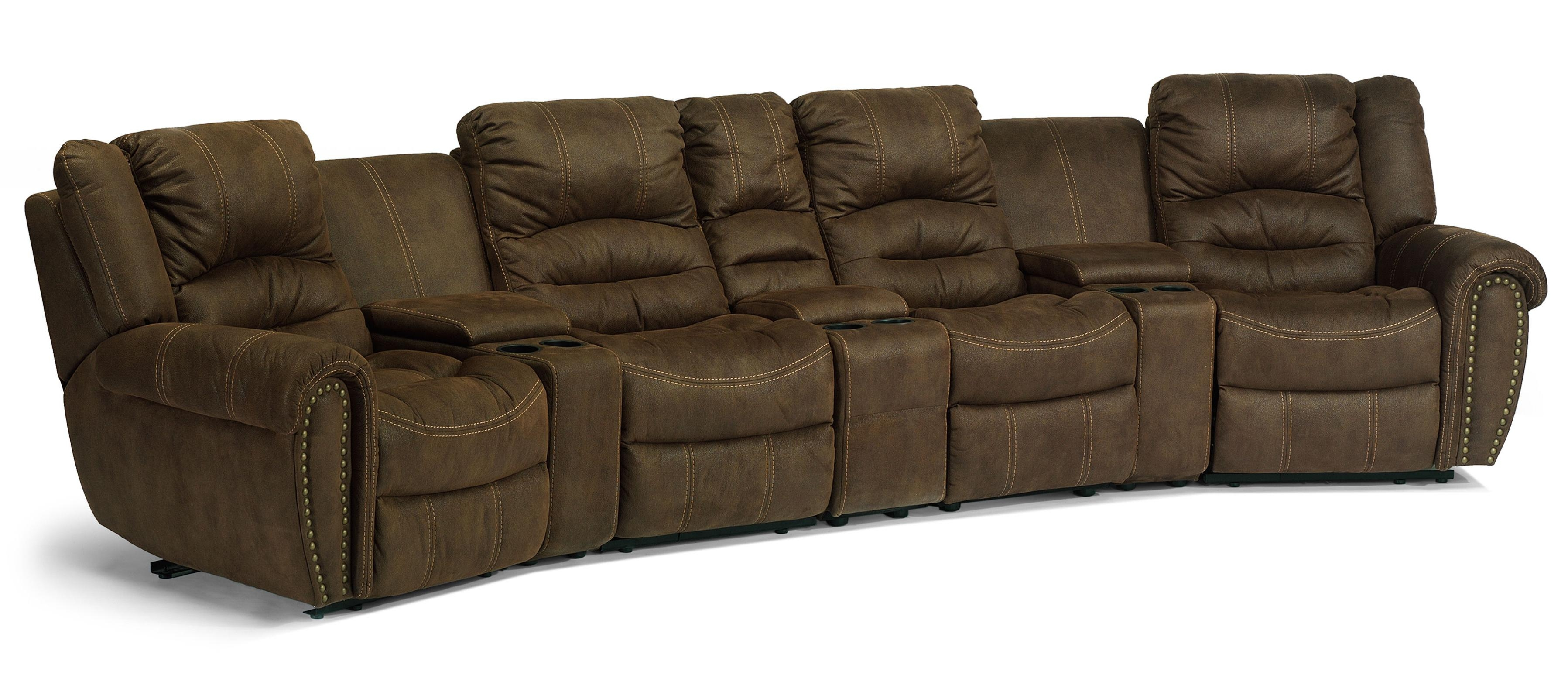 Flexsteel Latitudes New Town Curved Reclining Sectional Sofa With Curved Sectional Sofa With Recliner (#10 of 12)