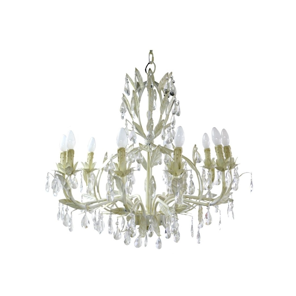 Florence Chandelier Large Cream Chandeliers Ido Interior With Large Cream Chandelier (#4 of 12)