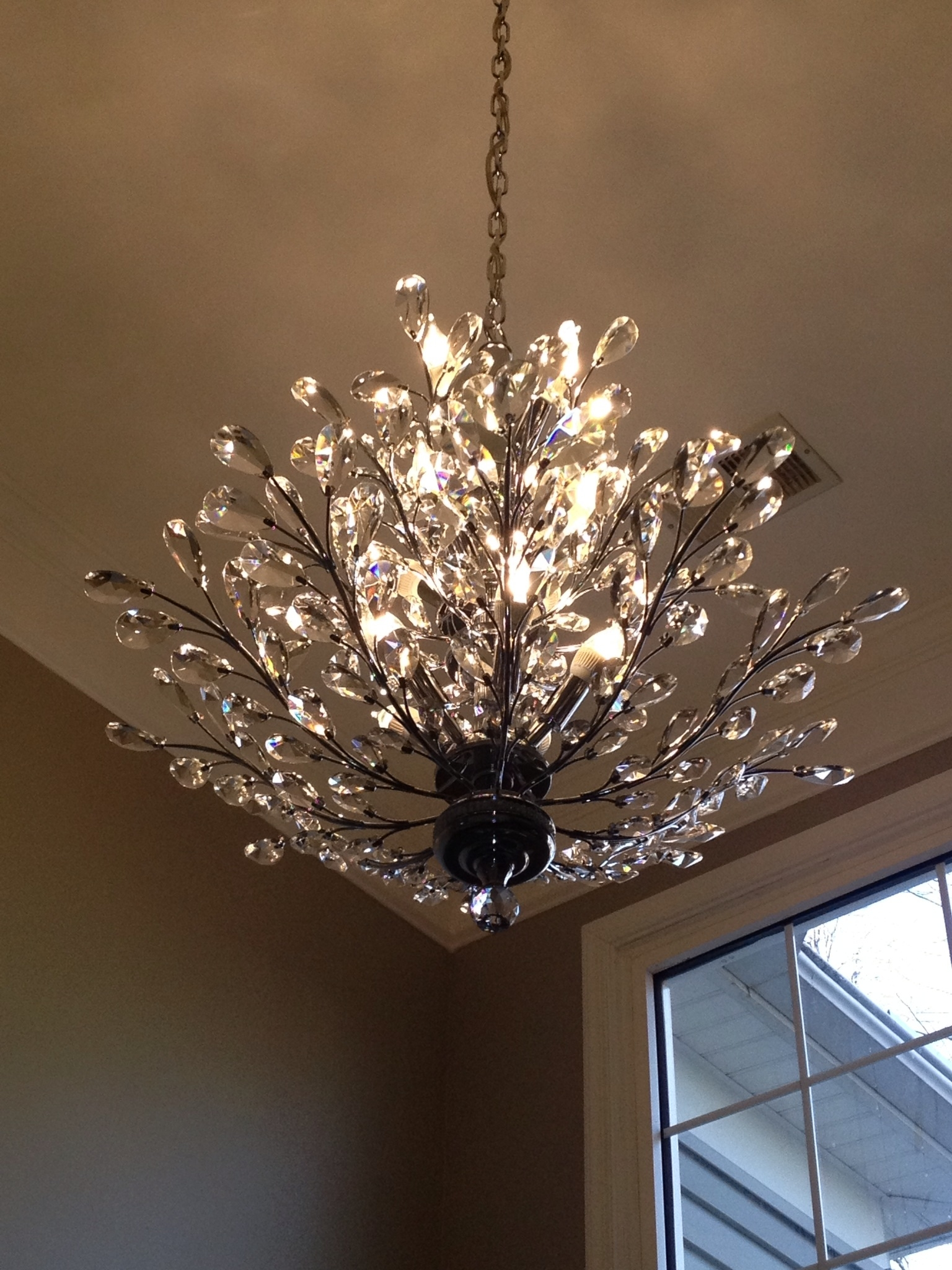 Foyer Chandelier Branch Of Light Design Joshua Marshall Home In Crystal Branch Chandelier (#7 of 12)
