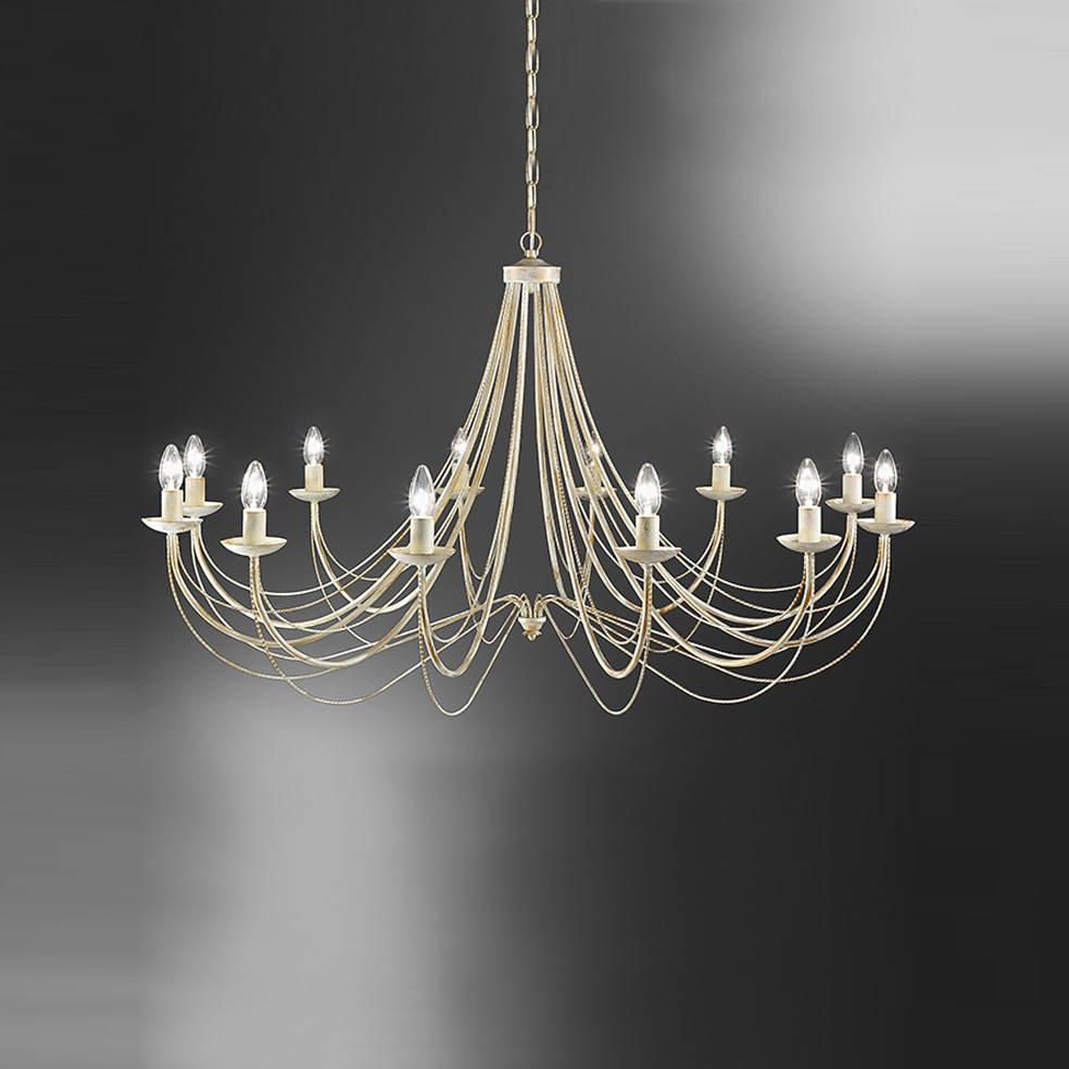 Franklite Fl217212 Philly 12 Light Cream Chandelier In Cream Chandelier Lights (#7 of 12)