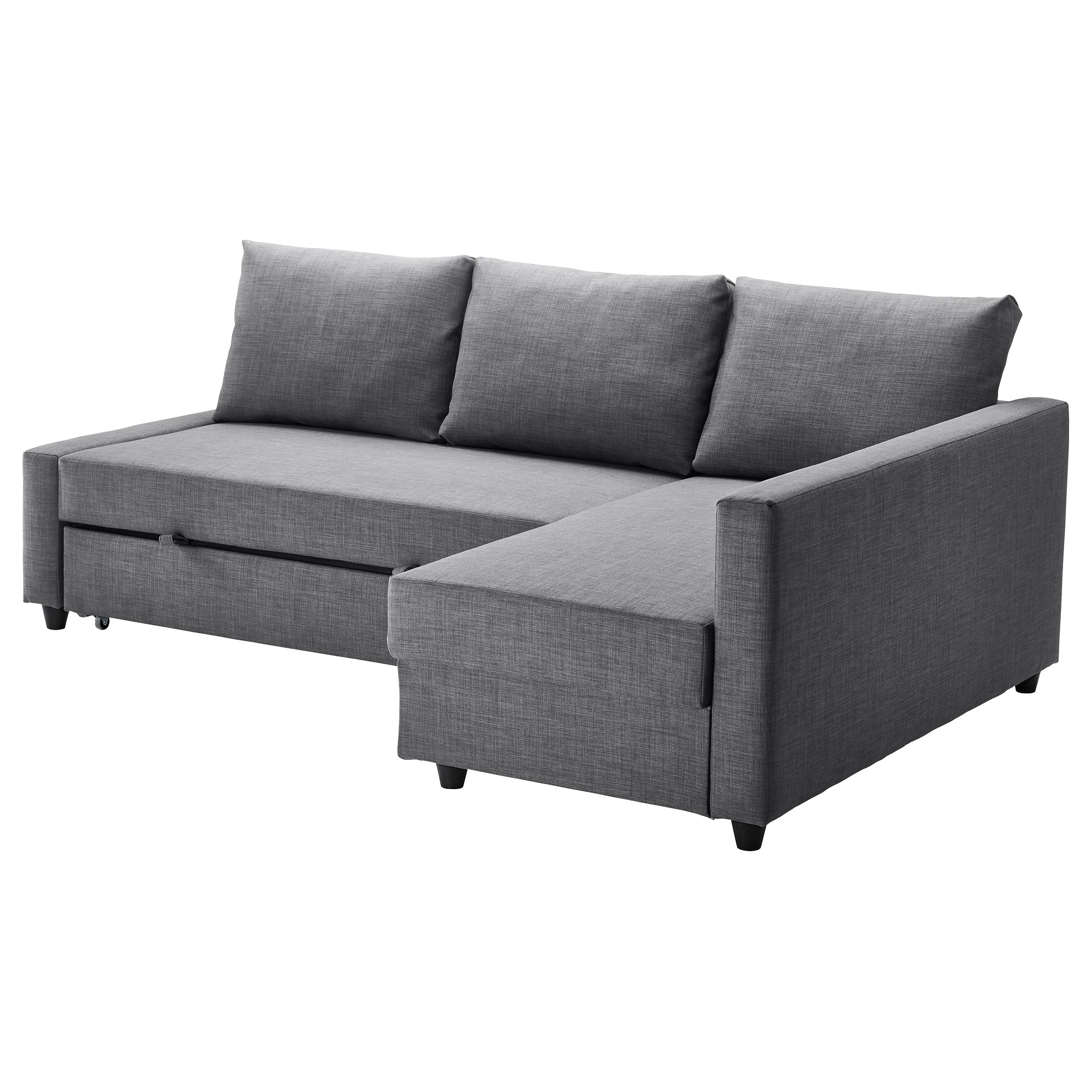 Friheten Corner Sofa Bed With Storage Skiftebo Dark Grey Ikea For Corner Sofa Bed With Storage Ikea (#5 of 12)