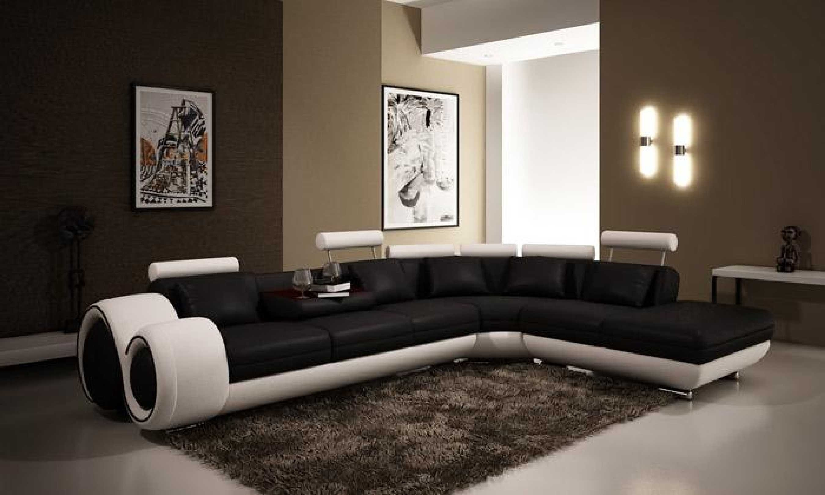 Furniture Black And White Sectional Using Black And White Inside Black And White Sectional Sofa (#9 of 12)