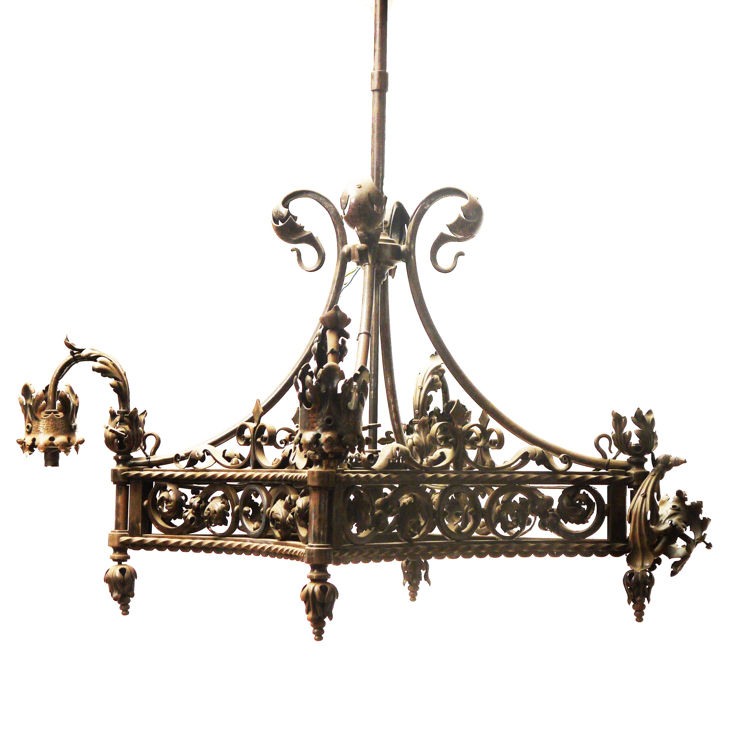 Furniture Classic Wrought Iron Chandelier For Your Home Classic Regarding Vintage Wrought Iron Chandelier (#5 of 12)