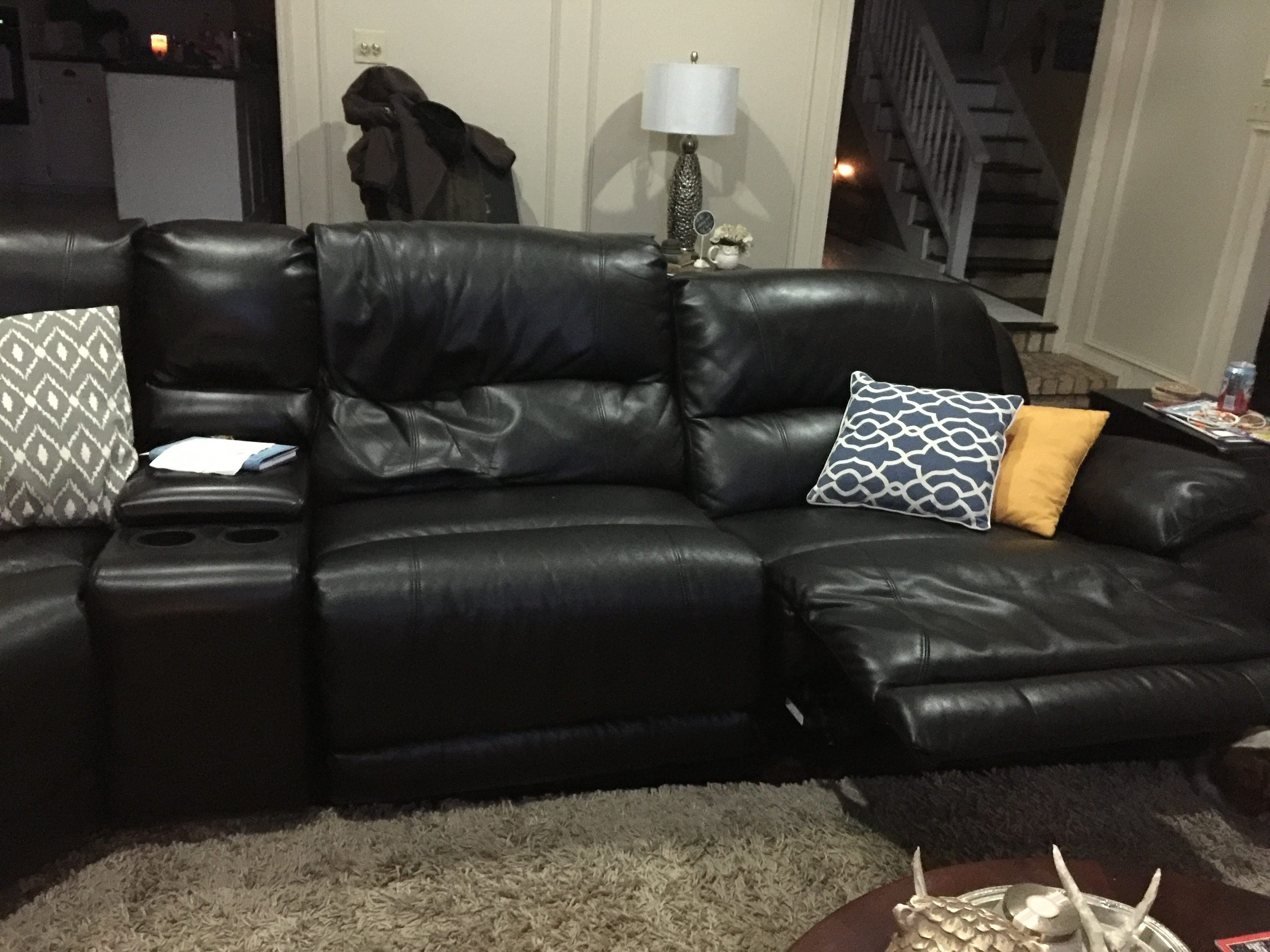 Furniture Nice Black Leather Sofa Design Ideas With Craigslist Pertaining To Craigslist Leather Sofa (#10 of 12)