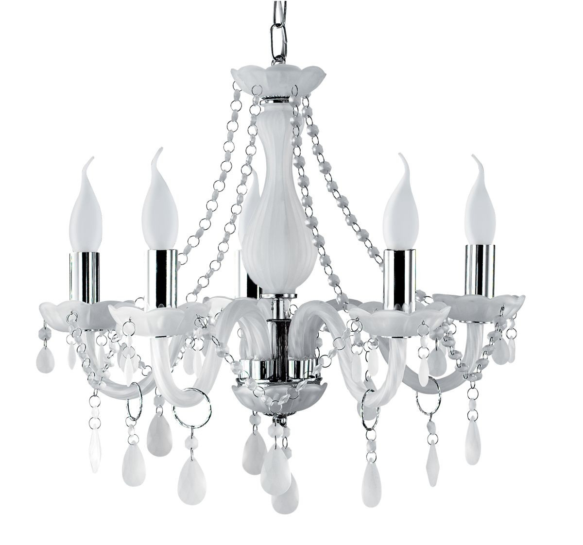 Furniture Nice White Chandeliers For Bedroom With Nice Decor Inside White Chandeliers (#7 of 12)