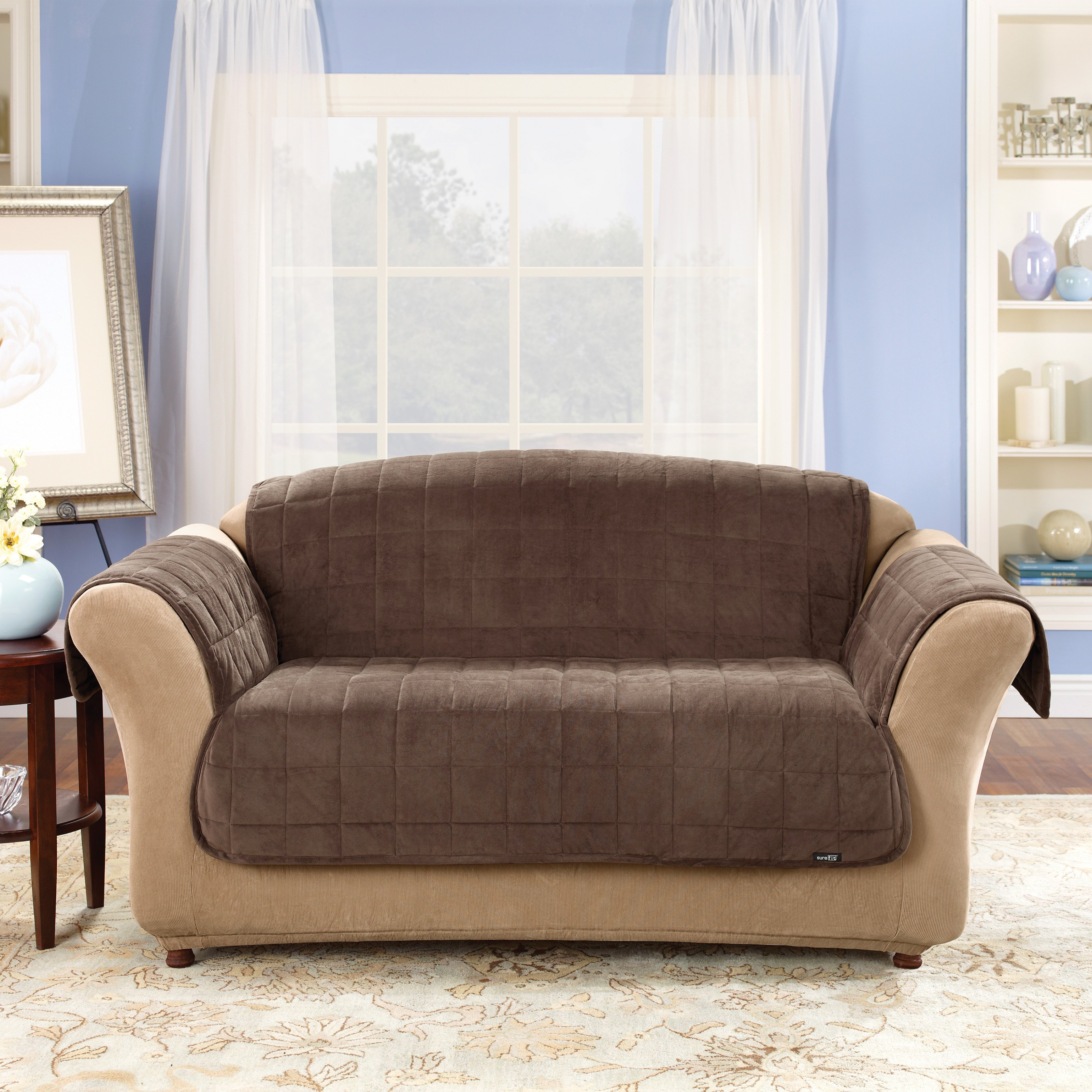 Furniture Perfect Living Room With Sofa Slipcovers Walmart For Throughout Chaise Sofa Covers (#5 of 12)