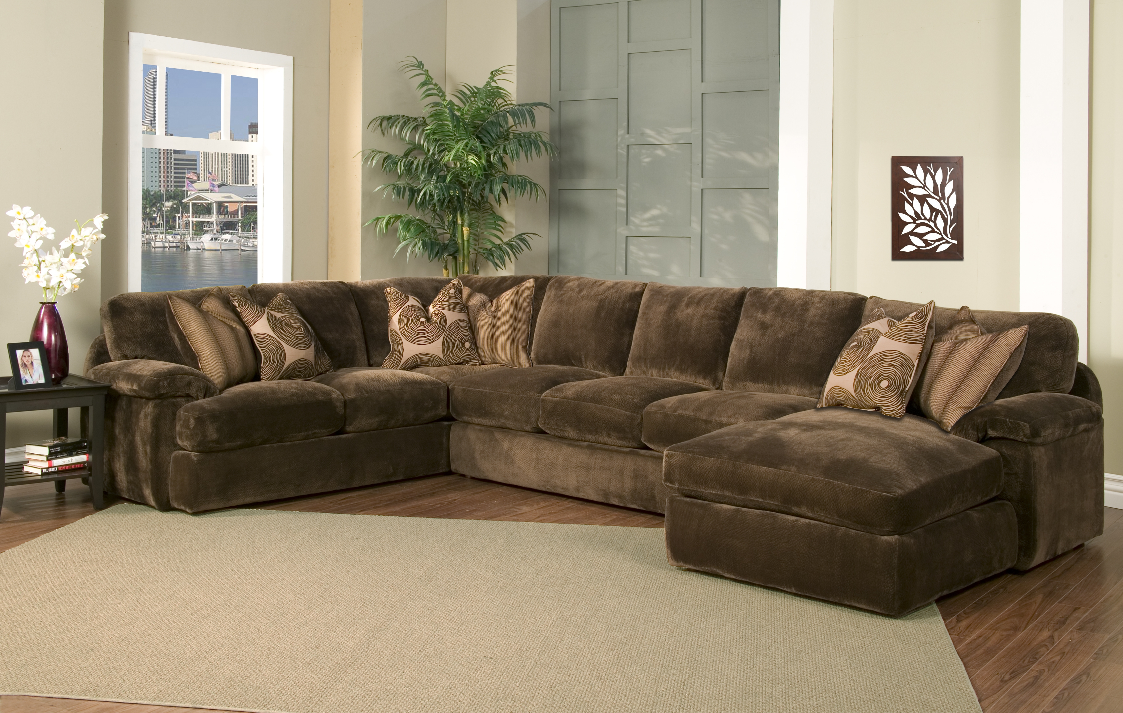 Furniture Sofas With Down Cushions Robert Michaels Furniture With Regard To Down Filled Sectional Sofas (#6 of 12)