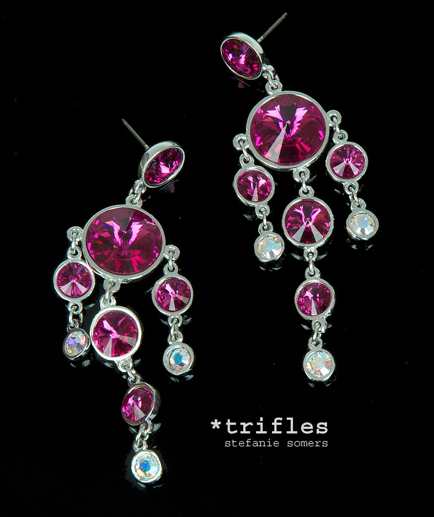 12 collection of fuschia chandelier fuschia chandelier earrings earrings collection in fuschia chandelier 4 of 12 aloadofball Image collections