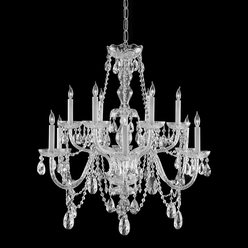 Gallery All Crystal 10 Light Silver Chandelier Overstock In Crystal Chandeliers (#7 of 12)