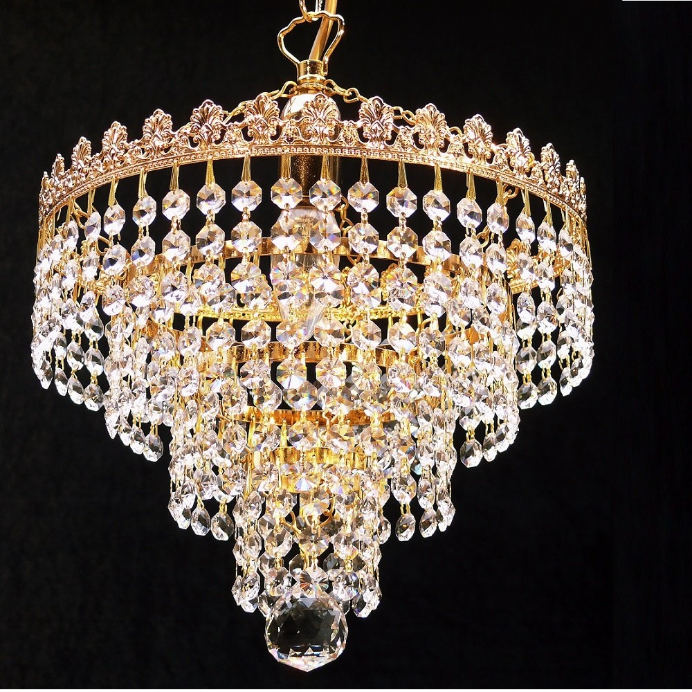 Gallery Venetian Style All Crystal 12 Light Chandelier Chandelier Pertaining To Chandelier Lights (#9 of 12)