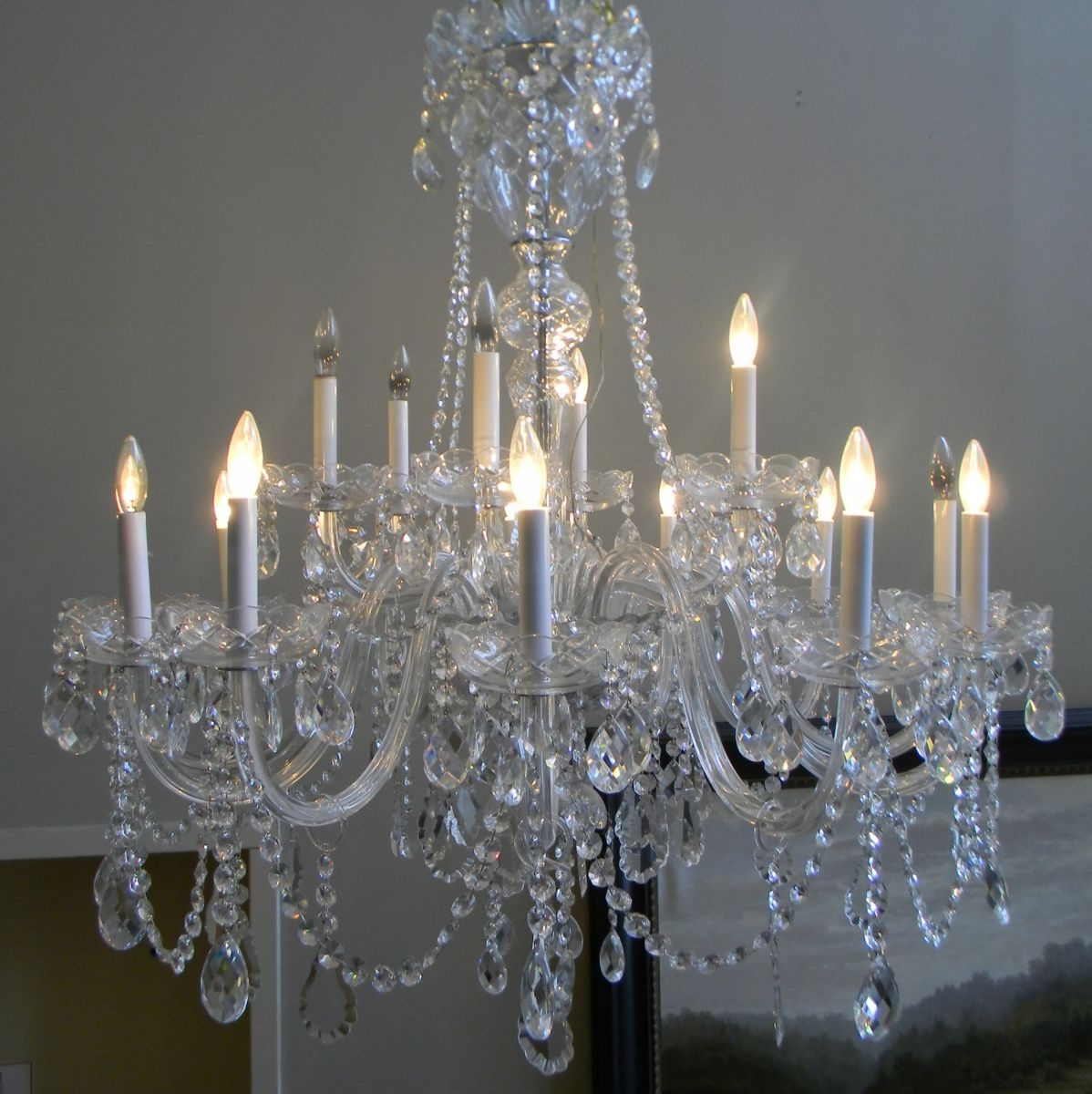 Gas Lamp Antiques For Huge Crystal Chandelier (#5 of 12)