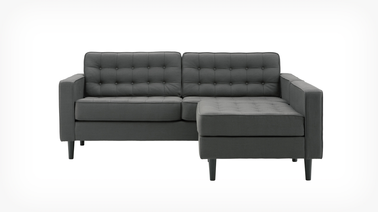 Genial 2 Piece Chaise Sectional Hausdesign Lorimer 2 Piece Review Intended For Apartment Sectional Sofa With Chaise (#6 of 12)