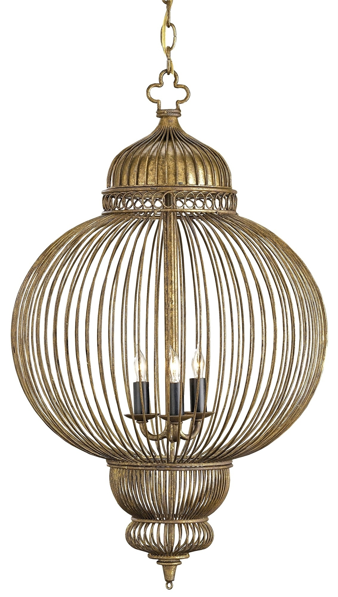 Giltspur Chandelier Lighting Currey And Company Inside Caged Chandelier (#9 of 12)