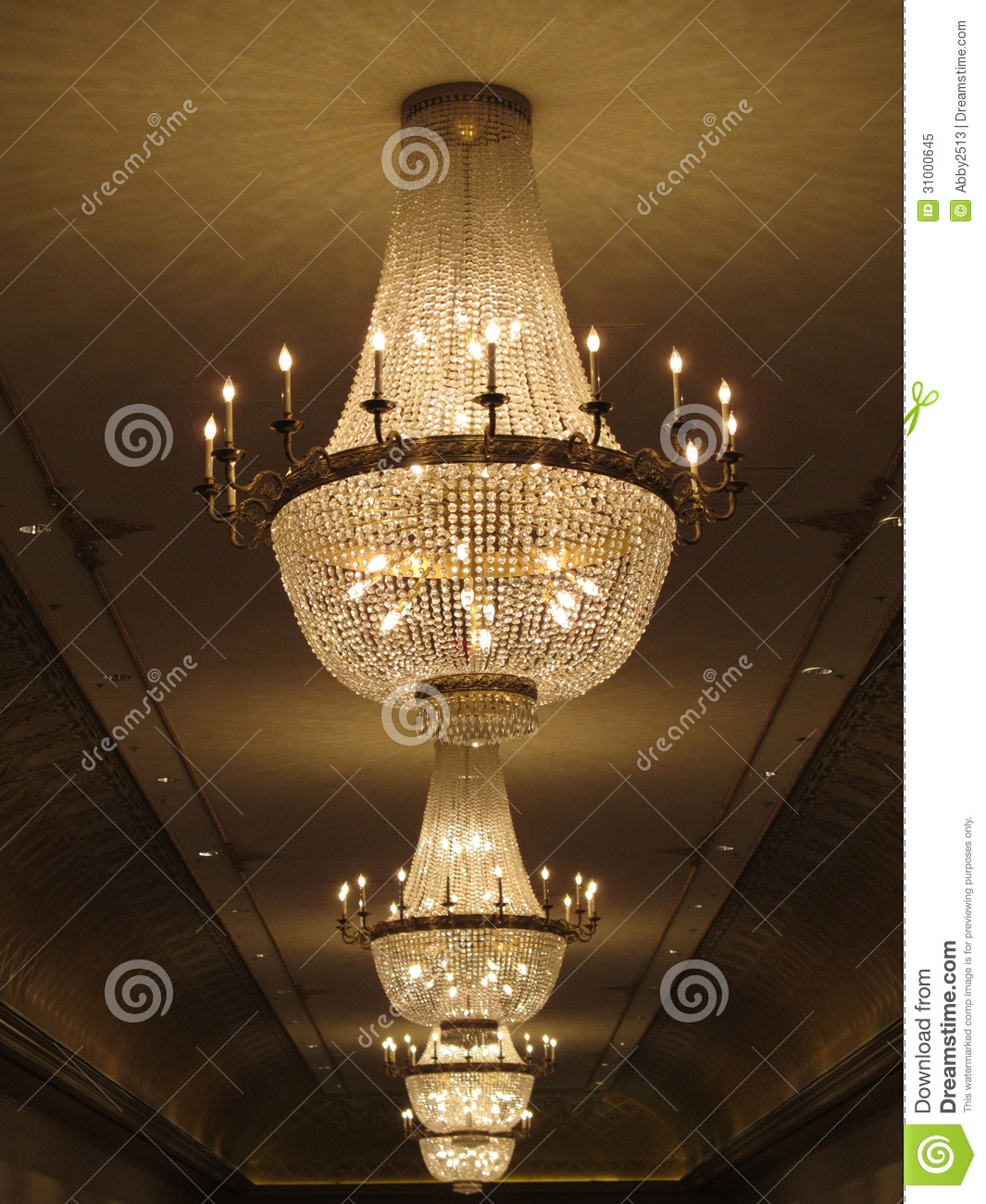 Gorgeous Crystal Chandelier Royalty Free Stock Photo Image 31000645 For Huge Crystal Chandeliers (#5 of 12)