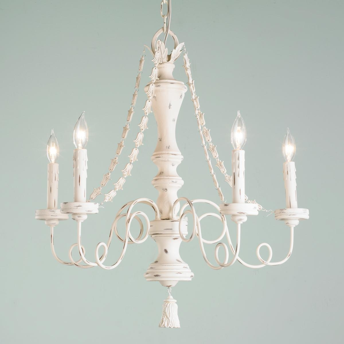 Gustavian Style White Chandelier Veranda Magazine Style And Within Cream Chandeliers (View 7 of 12)