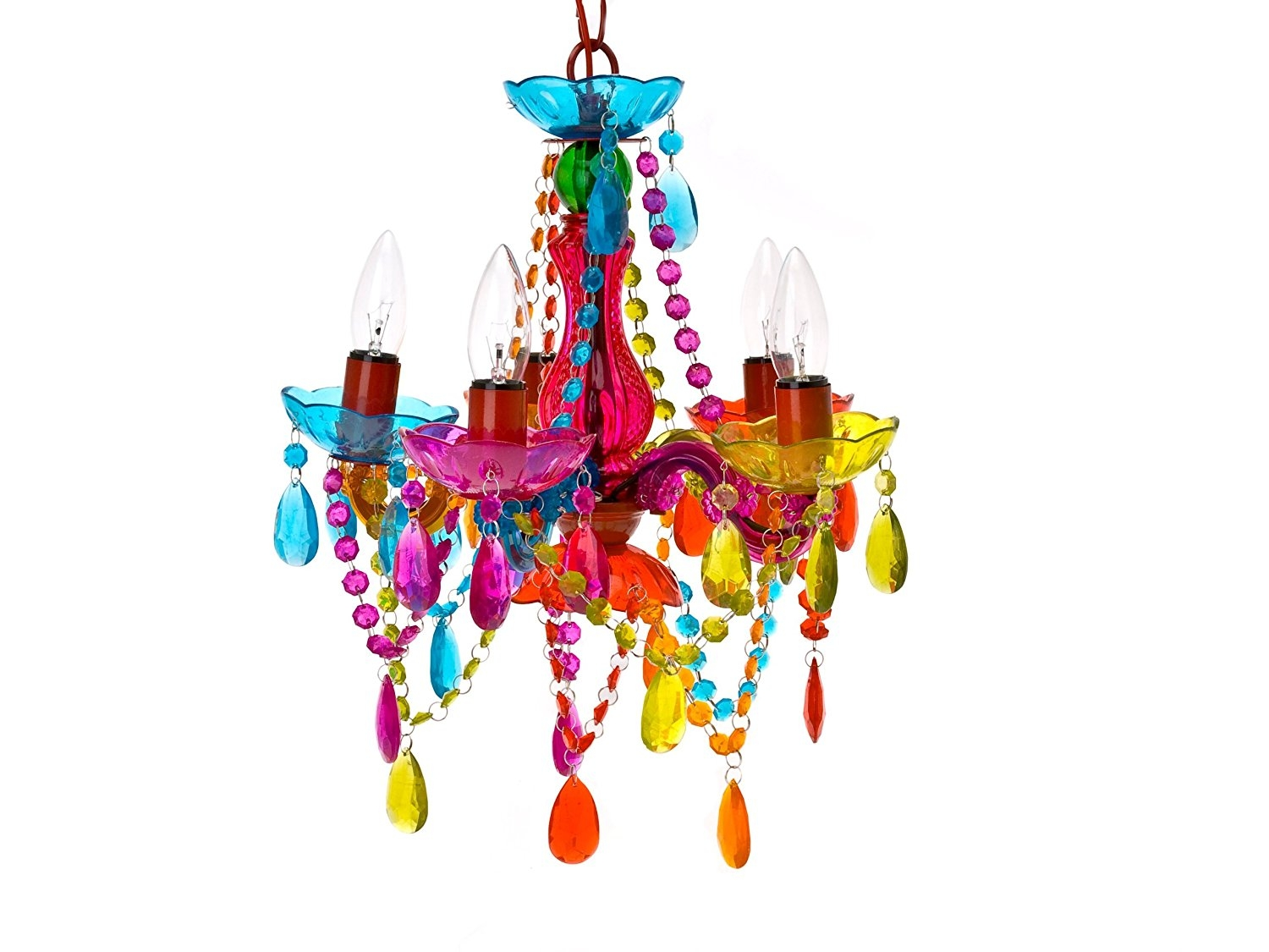 Gypsy Chandelier Pendant Ceiling Light Multi Coloured Small Pertaining To Colourful Chandeliers (#7 of 12)