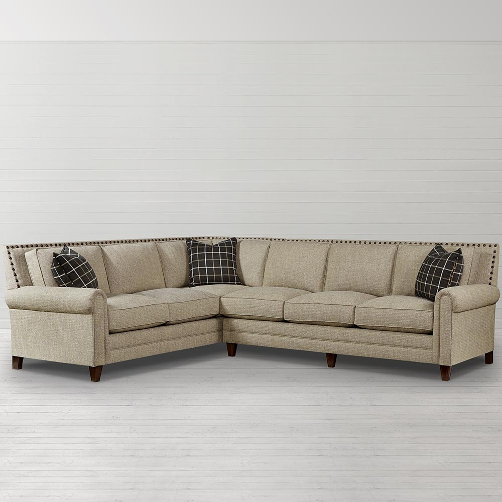 Charming Inspiration About Harlan Large L Shaped Sectional Living Room Bassett  Furniture Inside Craftsman Sectional Sofa (