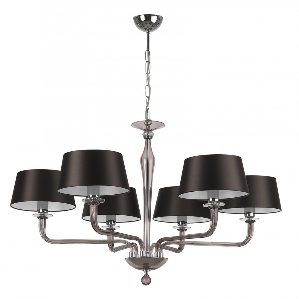 Heathfield Co Czarina Smoke Crystal Chandelier 6 Arm Houseology Throughout Smoked Glass Chandelier (#6 of 12)