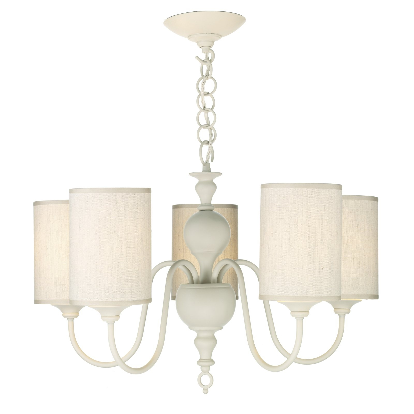 Hicks And Hicks Vintage Cream 5 Light Chandelier Hicks Hicks Within Cream Chandelier Lights (#8 of 12)