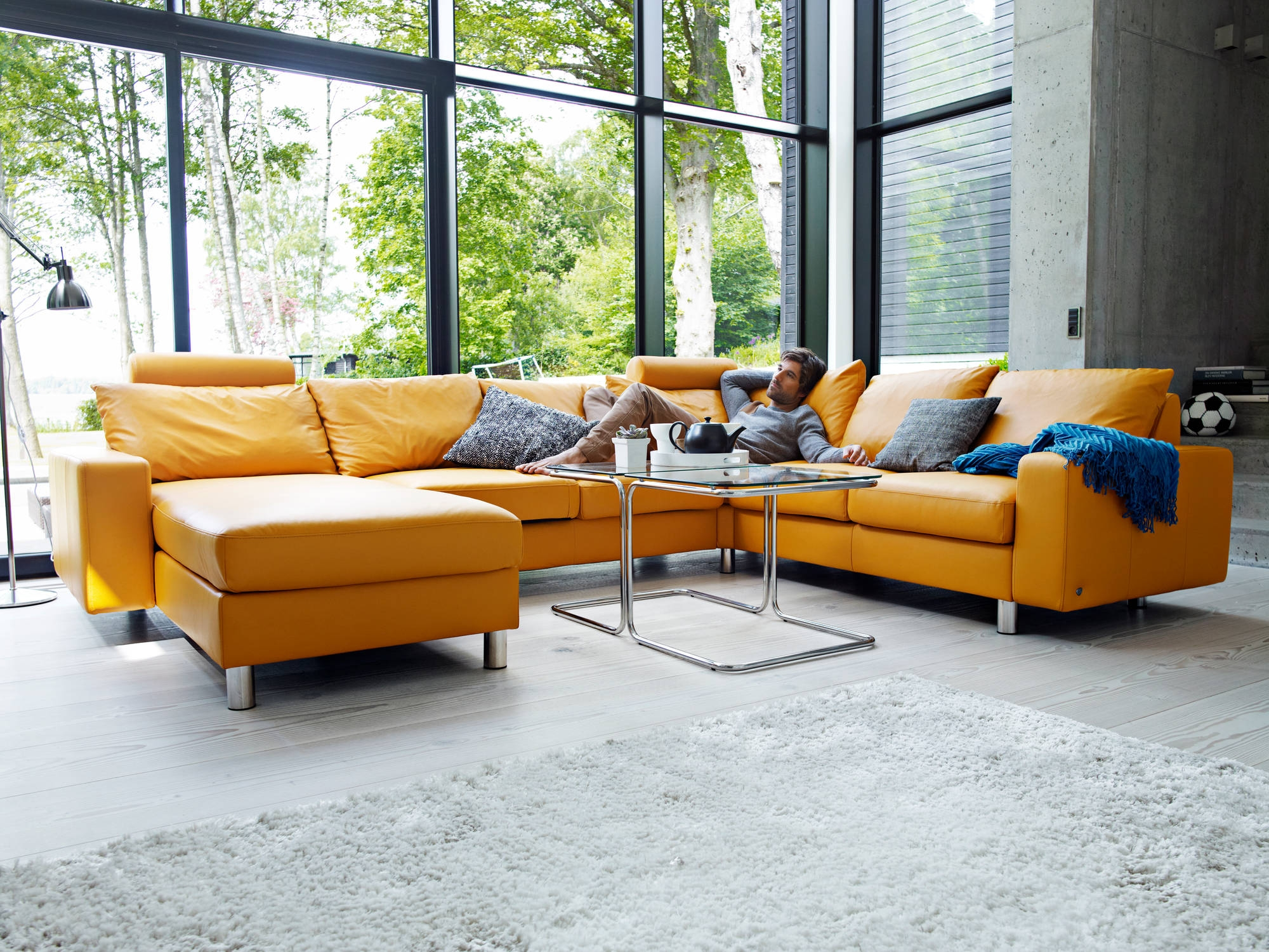 Home Theater Seating And Sectionals Stressless Unwind Throughout Ekornes Sectional Sofa (#9 of 12)