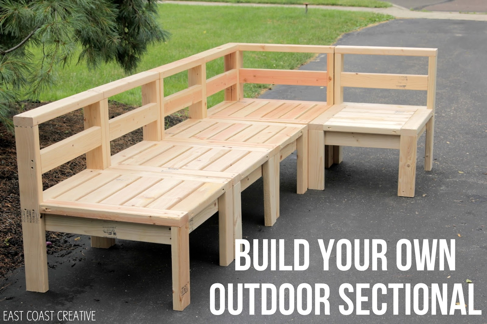 How To Build An Outdoor Sectional Knock It Off East Coast With Regard To Diy Sectional Sofa Plans (#12 of 12)