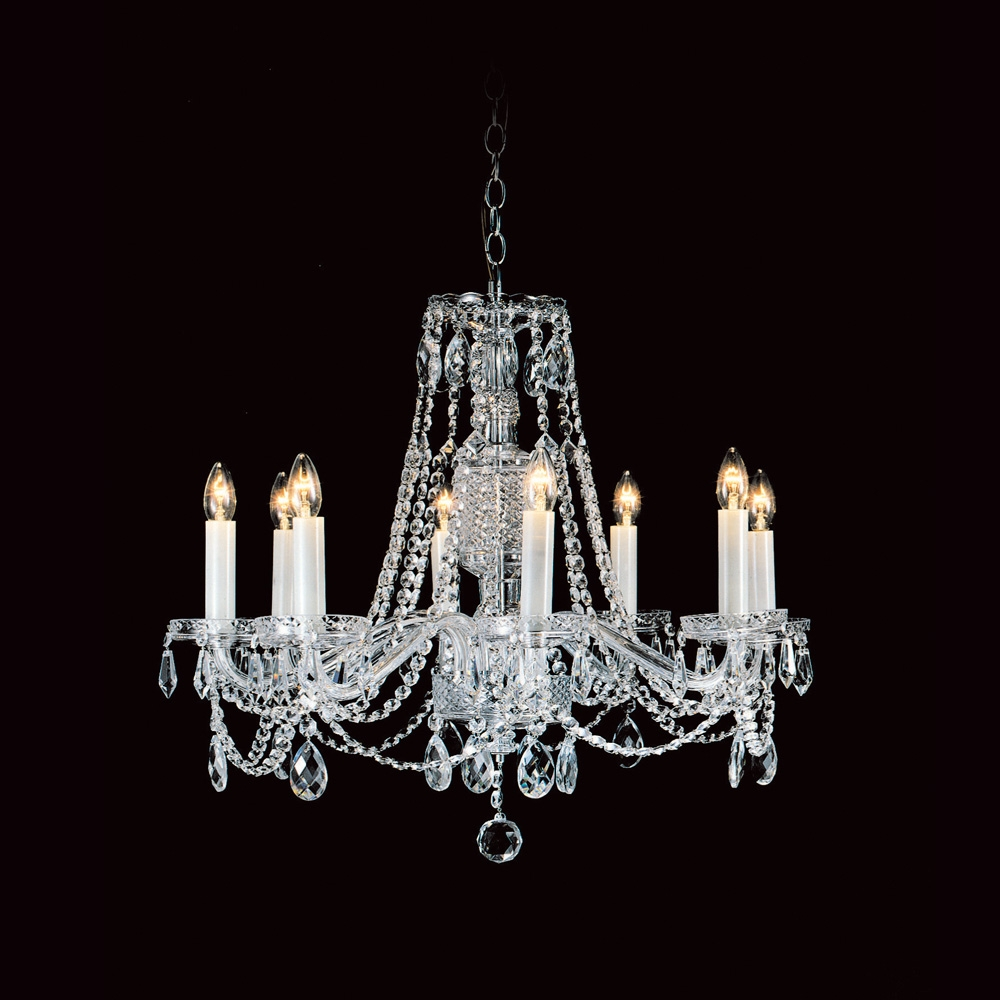 Impex Cb1258528 Preciosa Crystal Georgian 8 Light Chandelier Within Georgian Chandelier (#8 of 12)