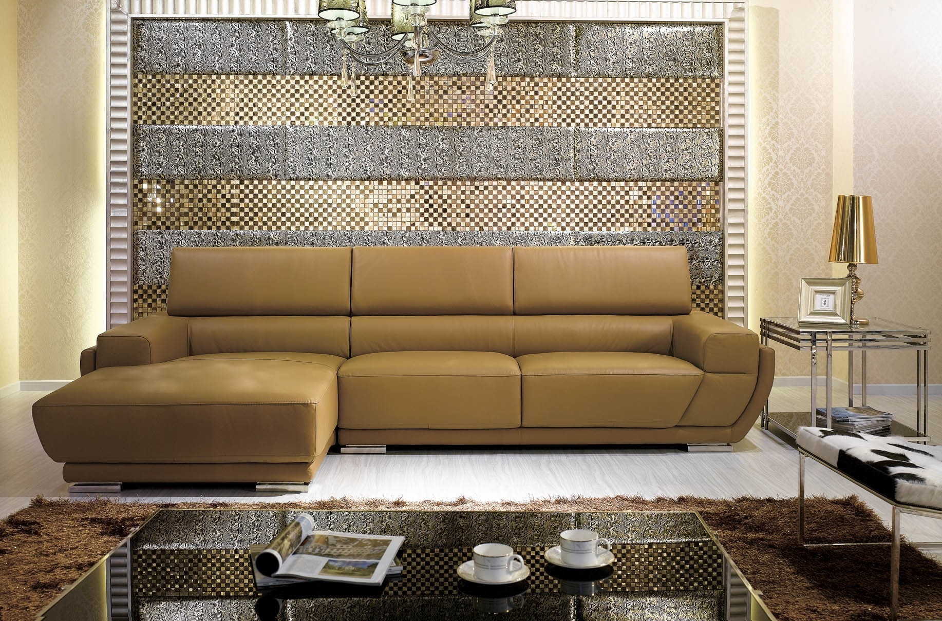 Inspiring Camel Colored Sectional Sofa 48 In Slipcovers For With Camel Colored Sectional Sofa (View 7 of 12)