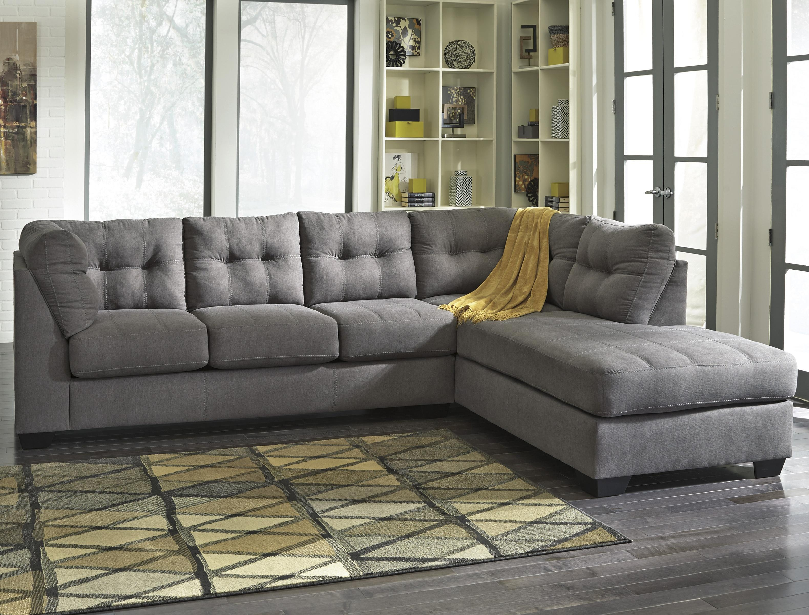 Inspiring Gray Sectional Sofa With Chaise Lounge 74 In 3 Piece Pertaining To 3 Piece Sectional Sofa Slipcovers (#7 of 12)