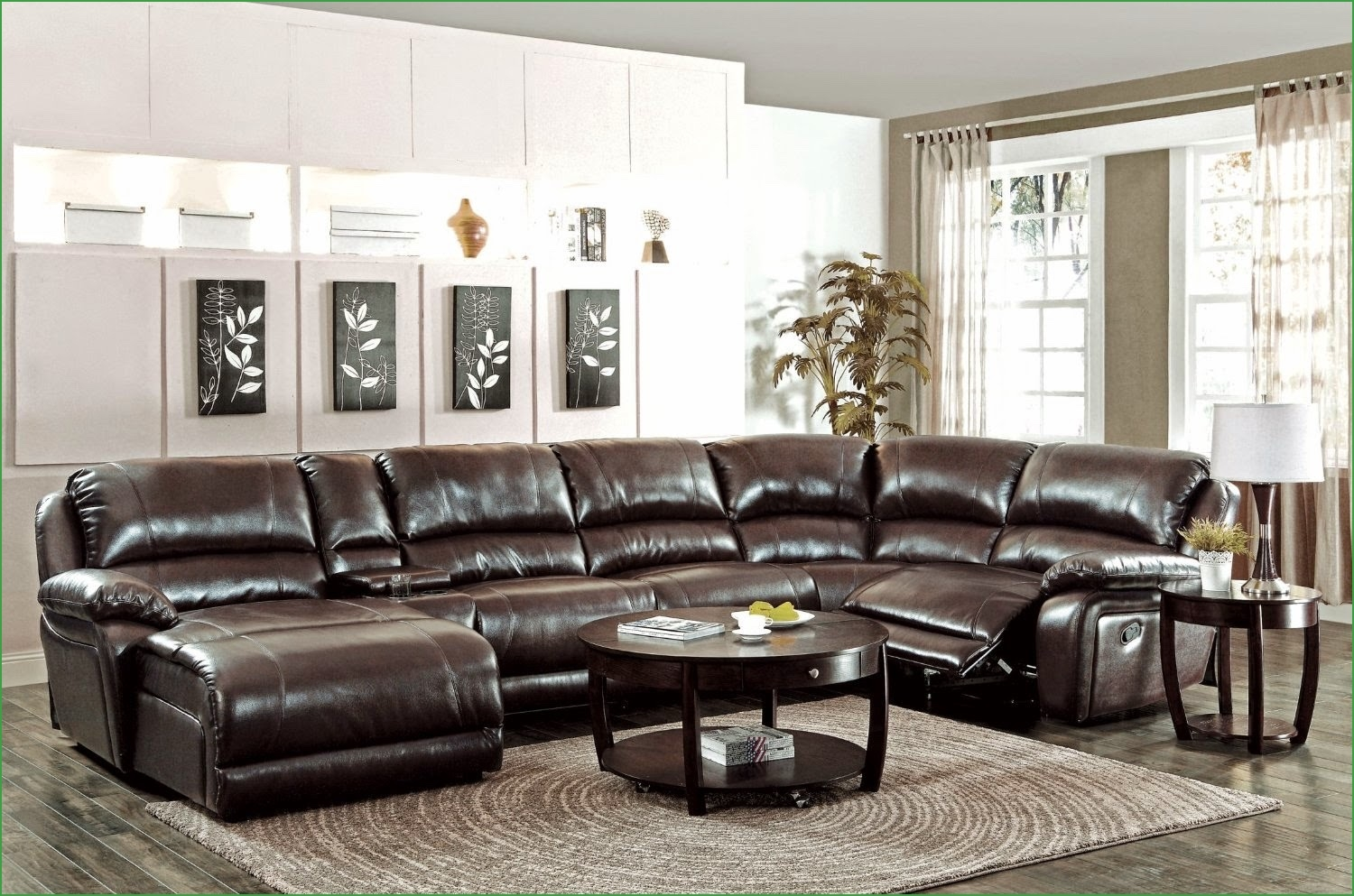 Interesting Huge Sectional Sofas 40 For Power Reclining Sectional In 6 Piece Leather Sectional Sofa (#8 of 12)