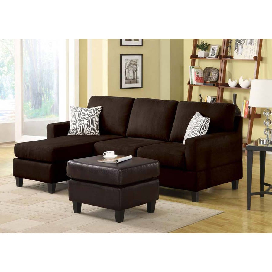 Interesting Walmart Sectional Sofas 64 On Contemporary Black Within Contemporary Black Leather Sectional Sofa Left Side Chaise (#10 of 12)
