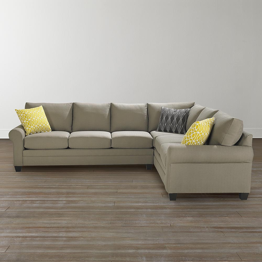 L Shaped Sectional Sofa Pertaining To Bassett Sectional Sofa (#8 of 12)