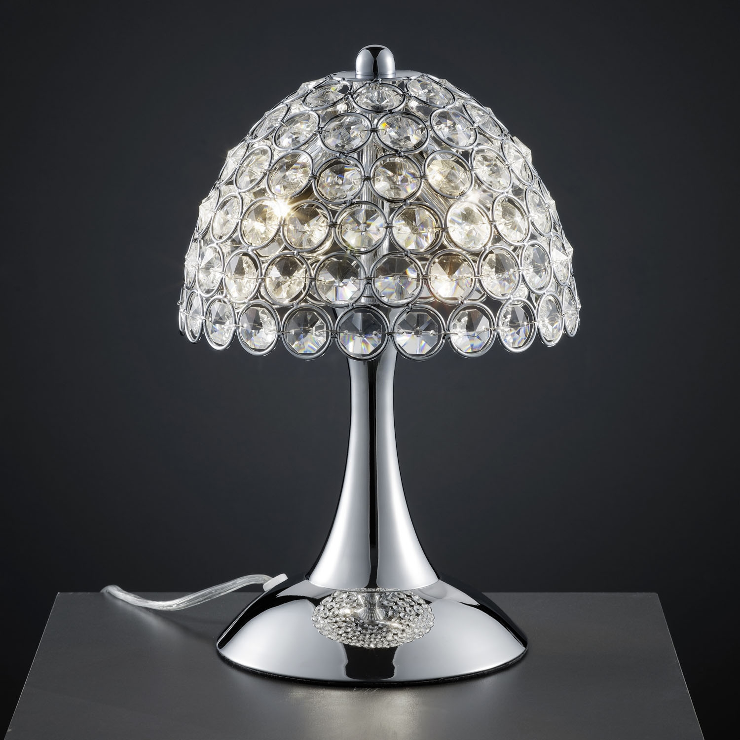 Lamp Art Deco Chandelier Luxury Crystal Ball Dangle Marry Romantic Regarding Crystal Table Chandeliers (#8 of 12)