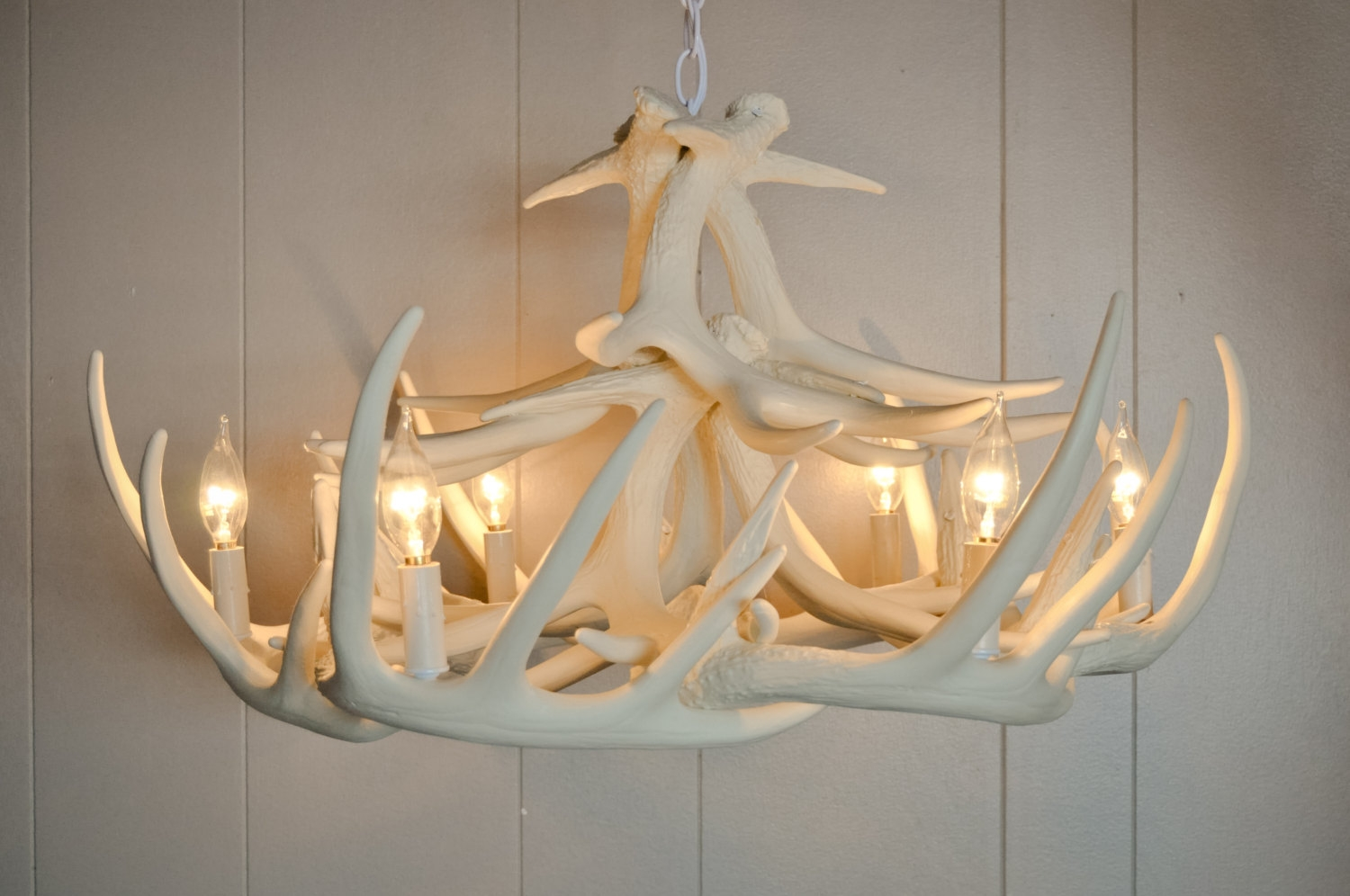 Lamp Deer Horn Chandelier With Authentic Look For Your Lighting Intended For Modern Antler Chandelier (#4 of 12)