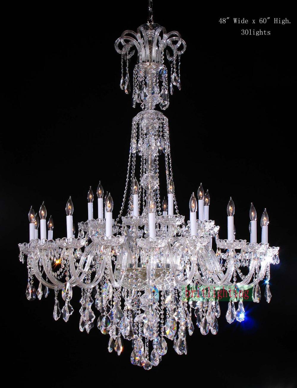 Lamp Modern Crystal Chandeliers 5 Star Hotel Chandelier Led Pertaining To Crystal Chandeliers (#9 of 12)