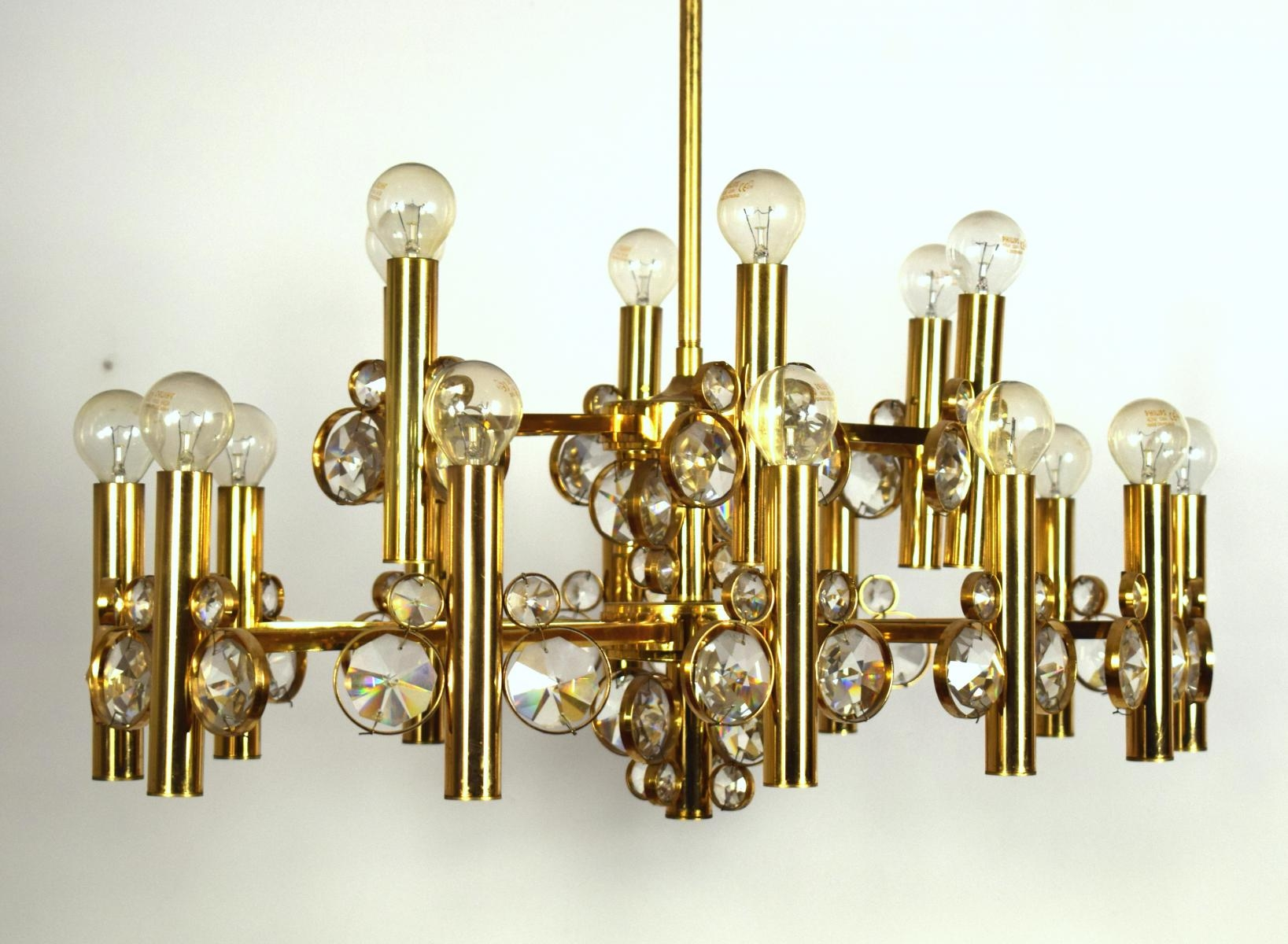 Popular Photo of Large Brass Chandelier