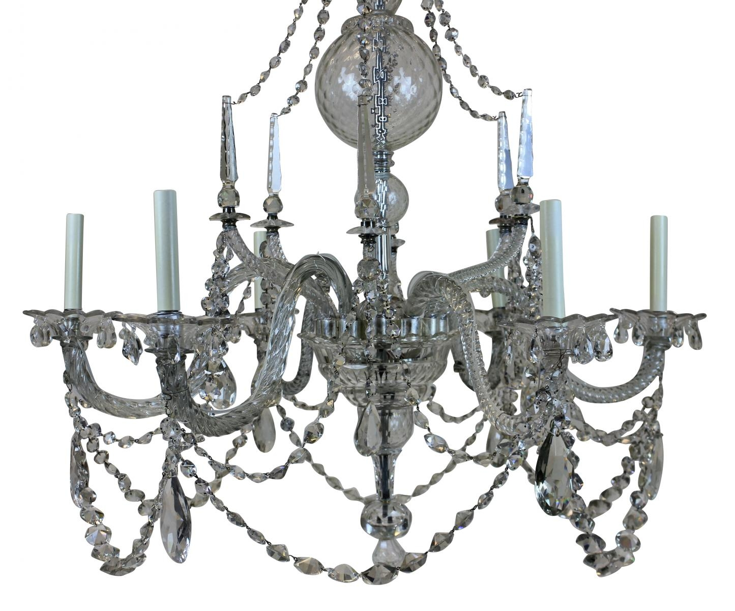 Large Georgian Chandelier 1790s For Sale At Pamono Regarding Georgian Chandelier (#9 of 12)