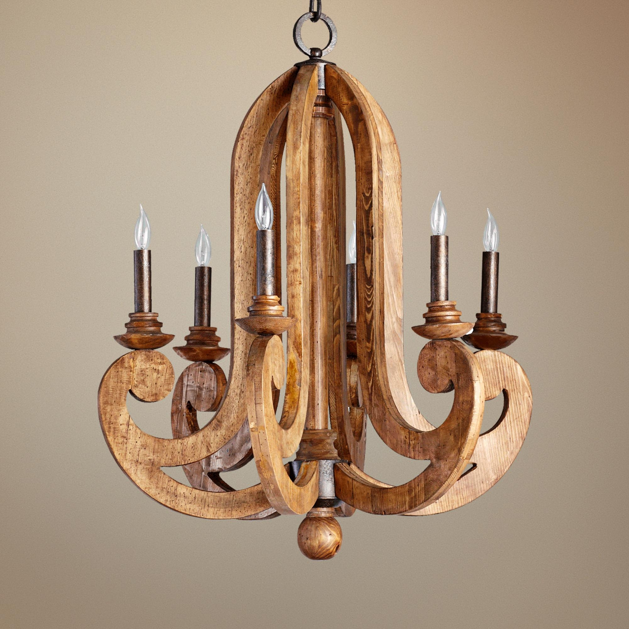 Large Round Wooden Orb Chandelier Chandeliers And Rounding In Wooden Chandeliers (#9 of 12)
