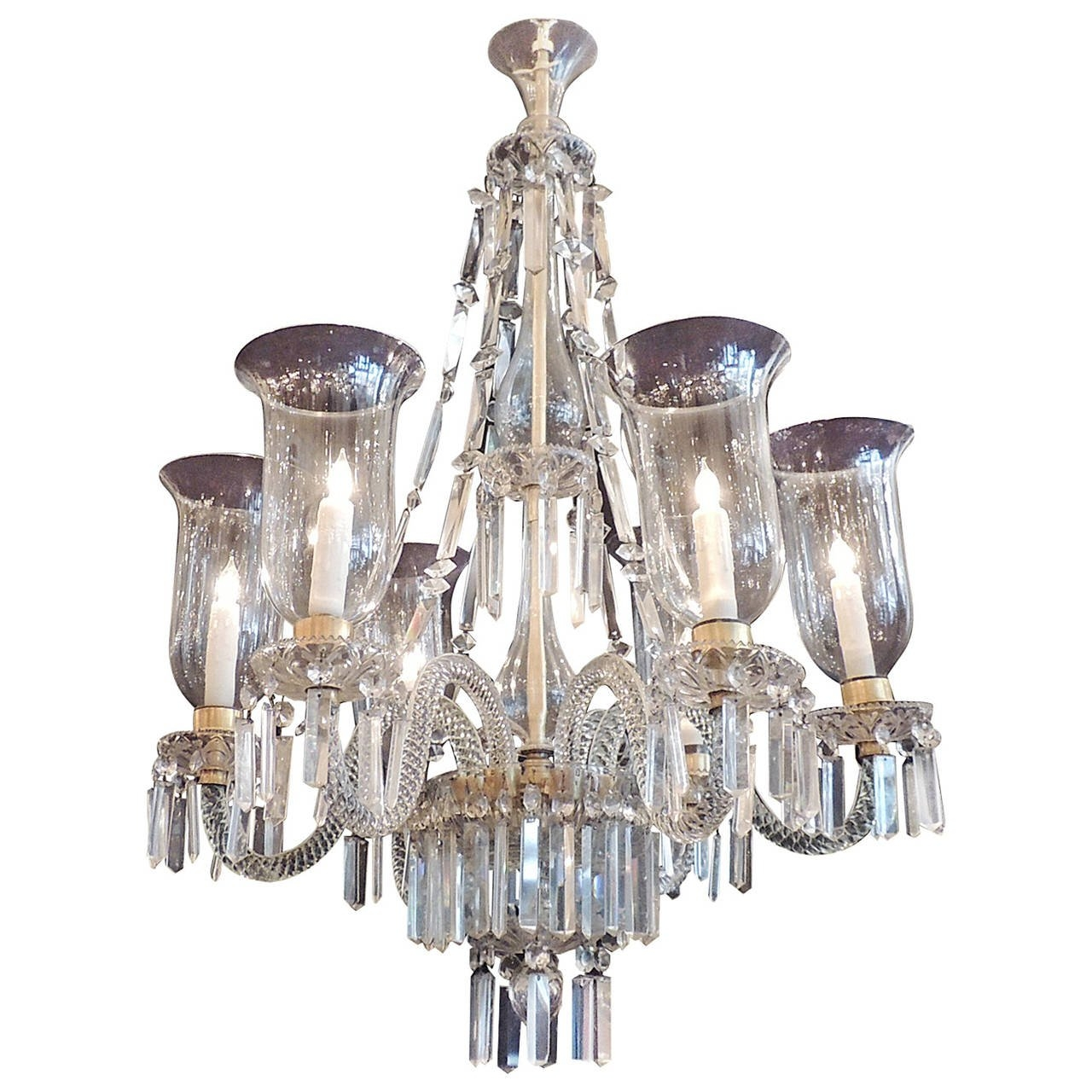 Late 18th C Irish Georgian Crystal Chandelier With Original Throughout Georgian Chandelier (#10 of 12)