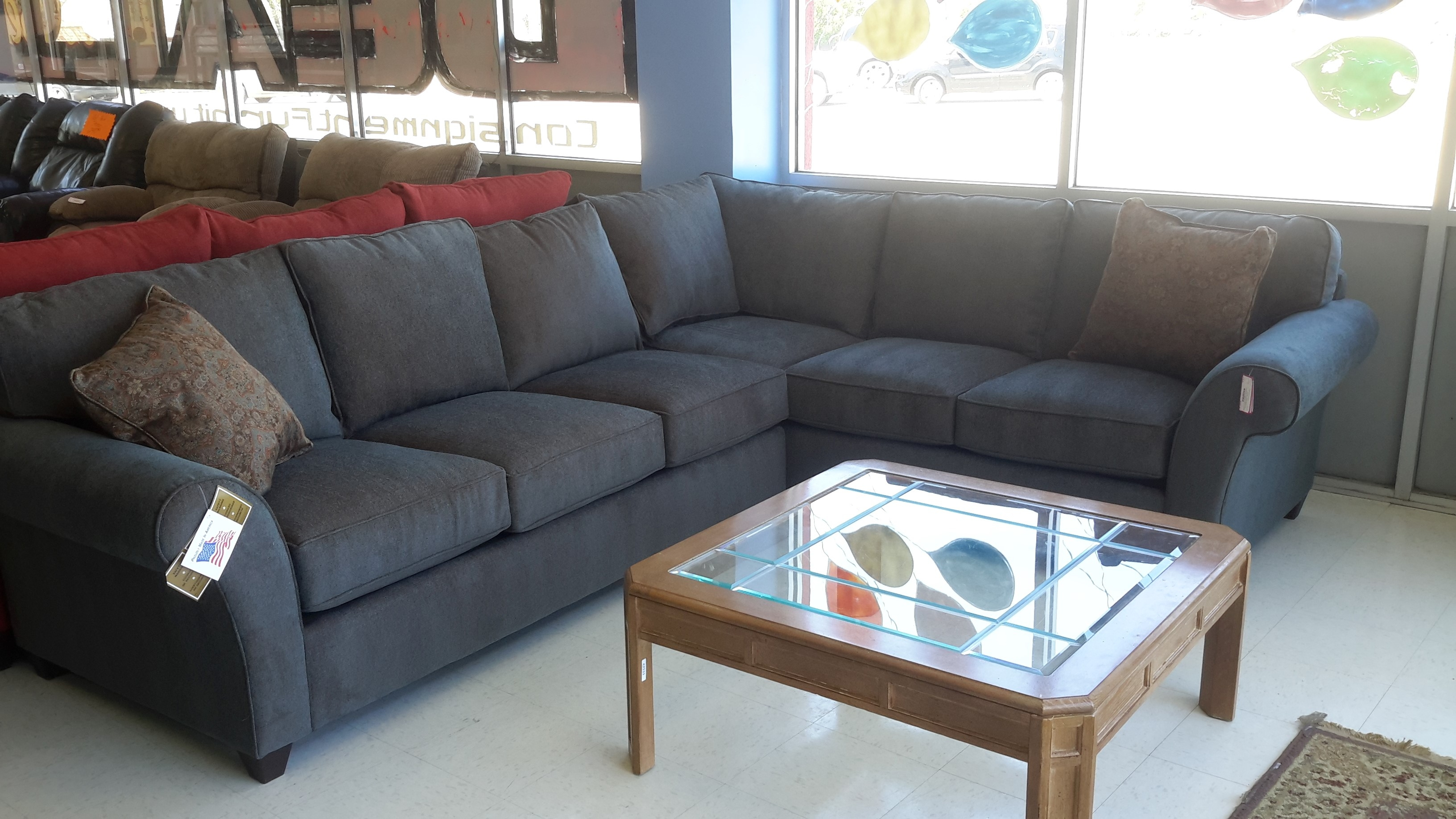 Living Room Exciting Denim Sectional Sofa Design For Living Room For Comfy  Sectional Sofa (#
