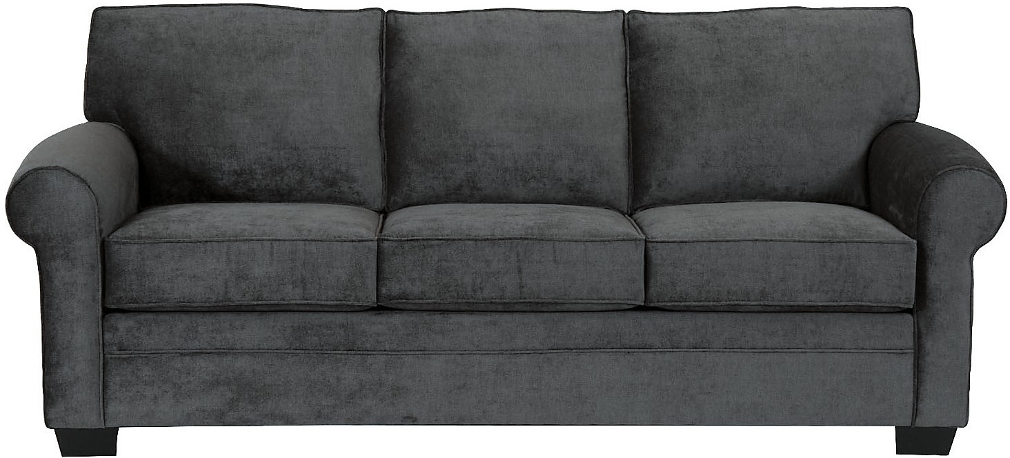 Living Room Furniture Designed2b Dov Chenille Sofa Charcoal Within Brick Sofas (#7 of 12)