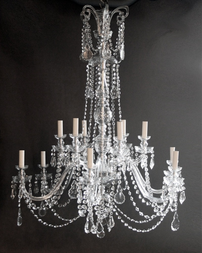 Living Room High Quality Crystal Chandeliers For Home Lighting Intended For Large Chandeliers (#9 of 12)