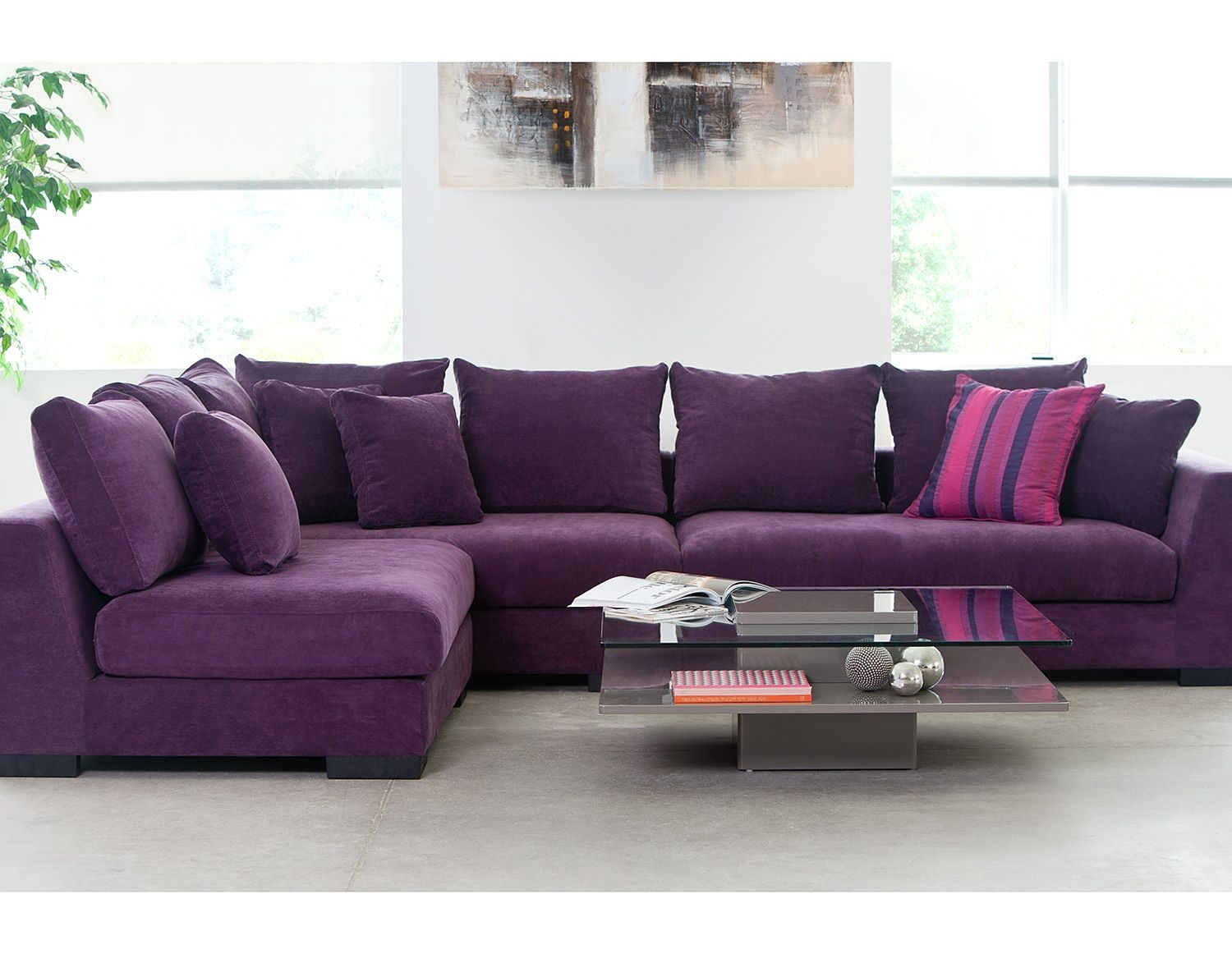Living Room Sectional Sofas Cooper Purple Faints A Couch Within Colorful Sectional Sofas (#9 of 12)