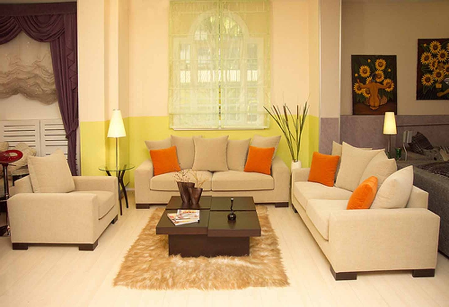 Living Room Small Living Room Furniture Ideas Cream Color L Throughout Cream Colored Sofas (#7 of 12)