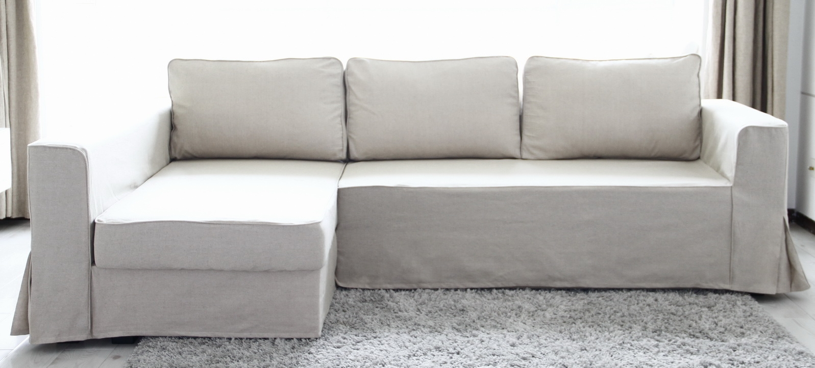 Loose Fit Linen Manstad Sofa Slipcovers Now Available Within Chaise Sofa Covers (View 1 of 12)