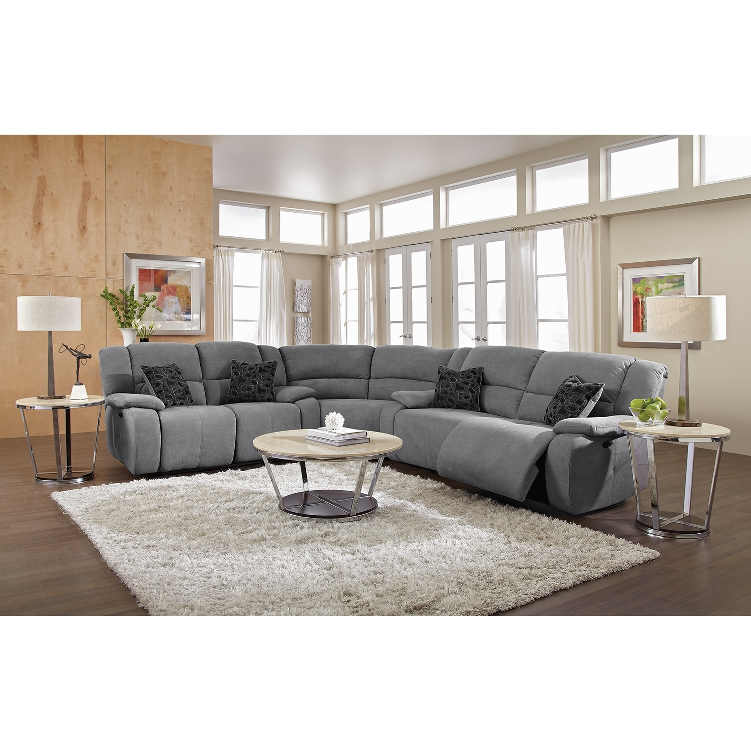 Love This Couch Gray Is Awesome Future Living Room Pinterest With Regard To Curved Sectional Sofa With Recliner (#11 of 12)
