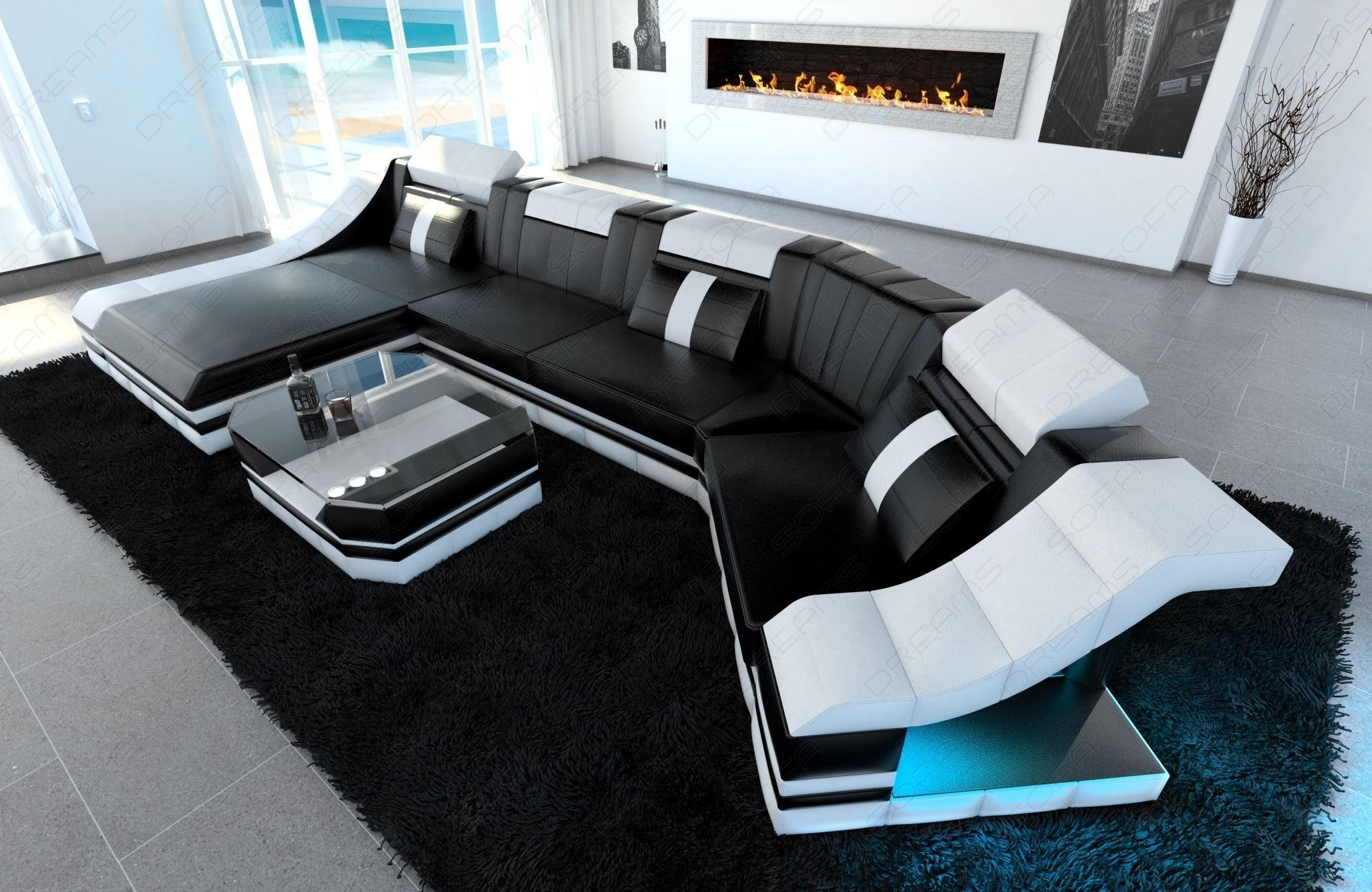 Luxury Sectional Sofa New York C Shape Led Intended For C Shaped Sofas (View 12 of 12)