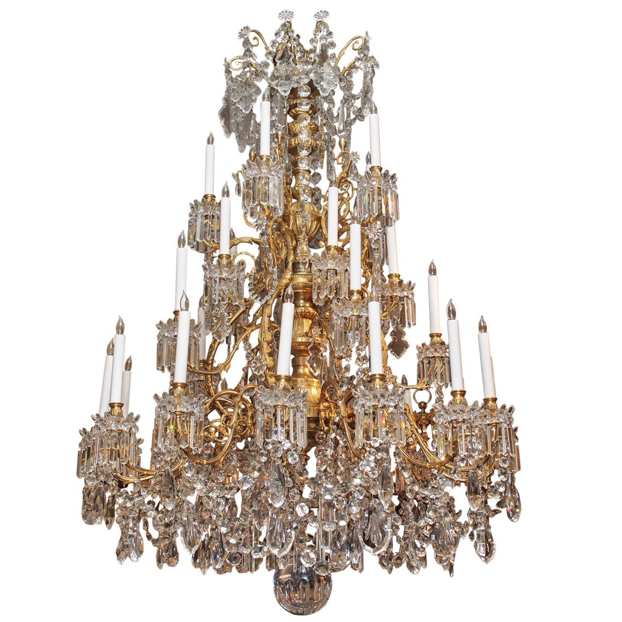 Magnificent Antique French Baccarat Crystal Chandelier Circa 1850 For Vintage Chandelier (#5 of 12)