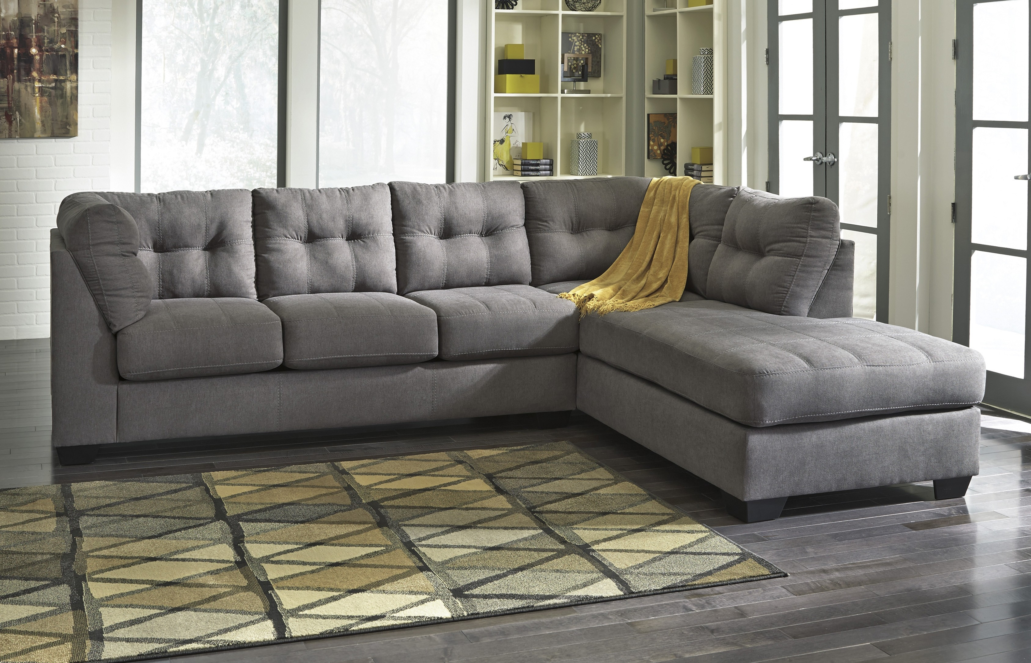 Maier Sectional Charcoal Gray Ashley Furniture Orange County Pertaining To Ashley Furniture Gray Sofa (View 2 of 12)